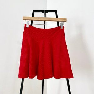 Cherry Textured Circle Woven Mini Skirt
